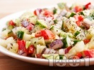 Рецепта Салата с краставици, чушки и подправки